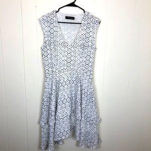 NWOT Ivanka Trump Ruffle Midi Dress Sz 8